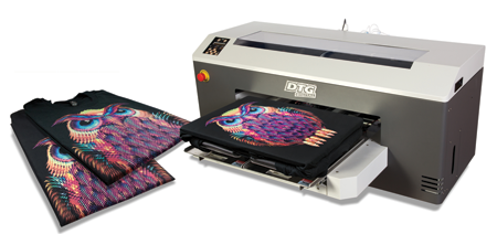 Direct-to-garment printing systems are especially popular right now. Photo courtesy of ColDesi, Inc.