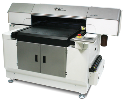 The JF240UV Flatbed Printer from GCC America, Inc.