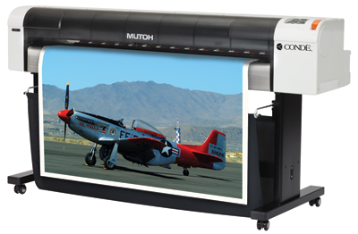 "The DyeTrans RJ-900X Printer from Condé Systems, Inc. is a wide format sublimation system for printing media up to 44"" wide.."