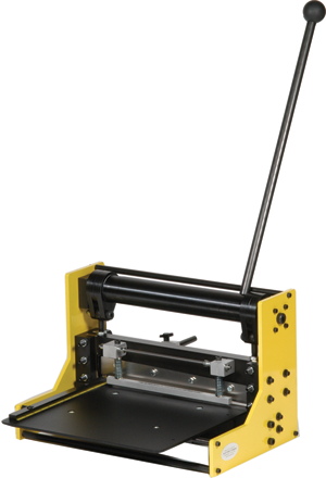 The AccuCutter 4001 line of guillotine shears offer superior safety and quality.