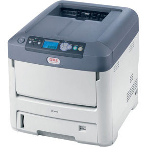 The OKI C711WT is a white toner laser printer that can create heat transfers for both light and dark colored garments. Photo courtesy of OKI Data Americas, Inc.