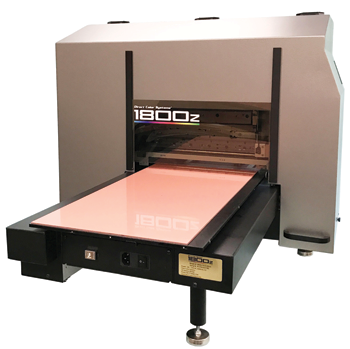The 1800z flatbed UV-LED printer from Direct Color Systems.