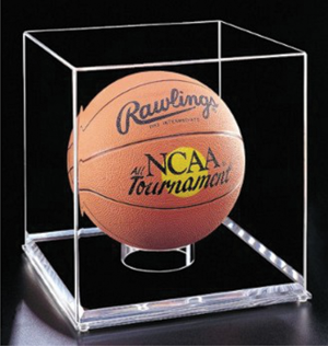 Display cases for sports memorabilia are a great application for acrylic. Photo courtesy of Plexi Fab Inc.