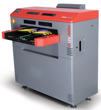 The Compress iUV-600s flatbed UV-LED printer from ColDesi, Inc.