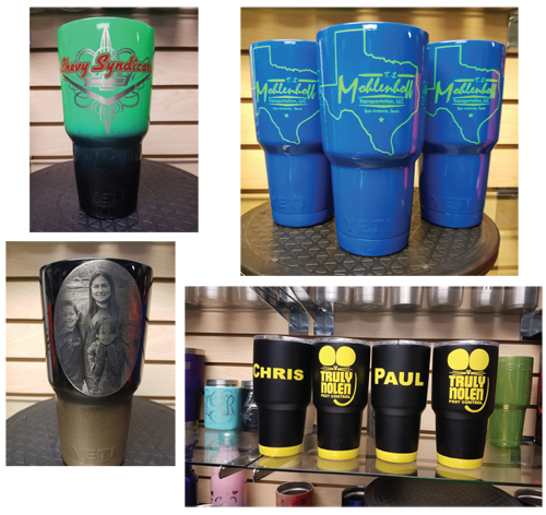 JAS CustomZ specializes in powder coating and laser engraving. Here are some samples of their work.