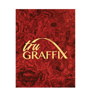 Tru Graffix Metal from JDS Industries is a line of brass plated steel with graphic designs.