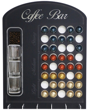 This coffee capsule holder was made out of acrylic using a laser. Photo courtesy of Trotec Laser Inc.