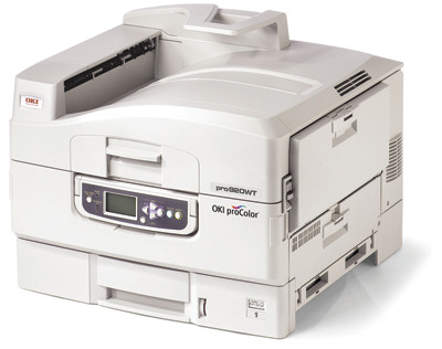 Condé Systems, Inc. offers the OKI proColor 920WT laser printer for printing colors and white on transfers.