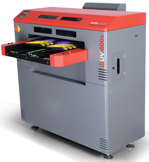 "The Compress iUV-600s UV-LED flatbed inkjet printer from ColDesi, Inc. features a 24"" x 18"" print area."