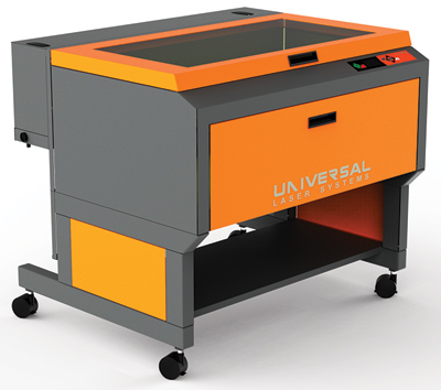 "The PLS 6MW is a fiber laser from Universal Laser systems featuring a 37"" x 23"" work table."