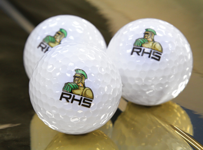 A UV-LED printer allows printing on items like golf balls which could lead to a great niche market. Photo courtesy of Roland DGA Corp.